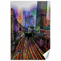 Downtown Chicago City Canvas 24  X 36