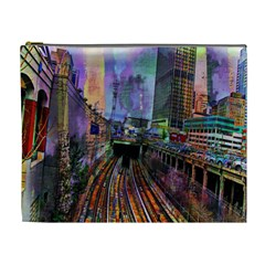 Downtown Chicago City Cosmetic Bag (XL)