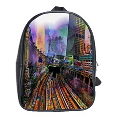 Downtown Chicago City School Bags(large)  by Nexatart