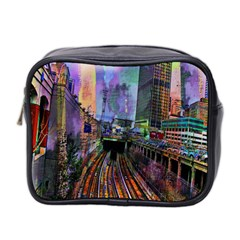 Downtown Chicago City Mini Toiletries Bag 2 Side by Nexatart