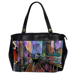 Downtown Chicago City Office Handbags (2 Sides)  by Nexatart