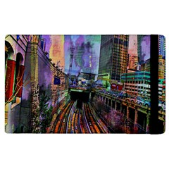 Downtown Chicago City Apple Ipad 3/4 Flip Case by Nexatart
