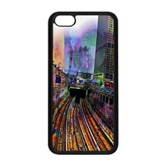Downtown Chicago City Apple Iphone 5c Seamless Case (black) by Nexatart