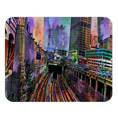 Downtown Chicago City Double Sided Flano Blanket (large)