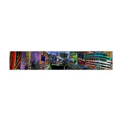 Downtown Chicago City Flano Scarf (mini) by Nexatart