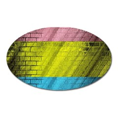 Brickwall Oval Magnet by Nexatart