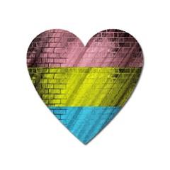Brickwall Heart Magnet