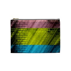 Brickwall Cosmetic Bag (medium)  by Nexatart