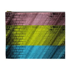 Brickwall Cosmetic Bag (xl) by Nexatart