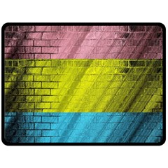 Brickwall Double Sided Fleece Blanket (large)  by Nexatart