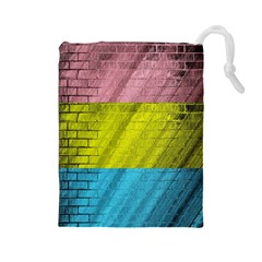 Brickwall Drawstring Pouches (large)