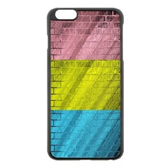 Brickwall Apple Iphone 6 Plus/6s Plus Black Enamel Case by Nexatart