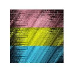 Brickwall Small Satin Scarf (square) by Nexatart