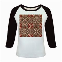 Seamless Pattern Based On Turkish Carpet Pattern Kids Baseball Jerseys