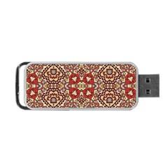 Seamless Pattern Based On Turkish Carpet Pattern Portable Usb Flash (one Side) by Nexatart