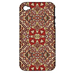 Seamless Pattern Based On Turkish Carpet Pattern Apple Iphone 4/4s Hardshell Case (pc+silicone)