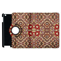 Seamless Pattern Based On Turkish Carpet Pattern Apple Ipad 2 Flip 360 Case by Nexatart
