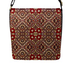 Seamless Pattern Based On Turkish Carpet Pattern Flap Messenger Bag (l)  by Nexatart
