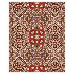 Seamless Pattern Based On Turkish Carpet Pattern Drawstring Bag (small)