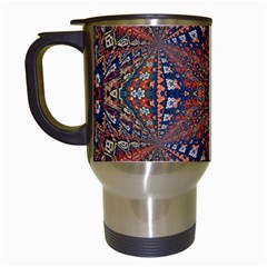 Armenian Carpet In Kaleidoscope Travel Mugs (white) by Nexatart