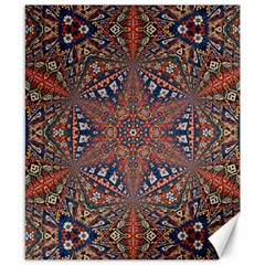 Armenian Carpet In Kaleidoscope Canvas 8  X 10  by Nexatart