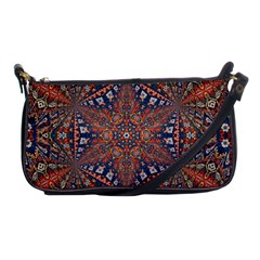 Armenian Carpet In Kaleidoscope Shoulder Clutch Bags by Nexatart