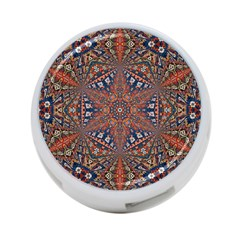 Armenian Carpet In Kaleidoscope 4 Port Usb Hub (one Side) by Nexatart