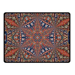 Armenian Carpet In Kaleidoscope Fleece Blanket (small) by Nexatart