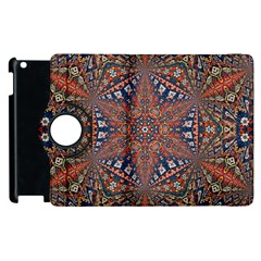 Armenian Carpet In Kaleidoscope Apple Ipad 2 Flip 360 Case by Nexatart