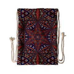 Armenian Carpet In Kaleidoscope Drawstring Bag (small) by Nexatart