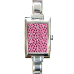 Cute Cats I Rectangle Italian Charm Watch