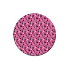 Cute Cats I Rubber Round Coaster (4 Pack)