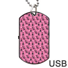 Cute Cats I Dog Tag Usb Flash (two Sides) by tarastyle