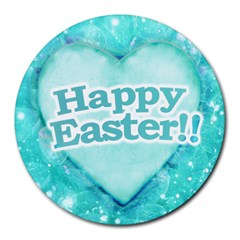 Happy Easter Theme Graphic Round Mousepads by dflcprints