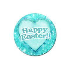 Happy Easter Theme Graphic Magnet 3  (round) by dflcprints