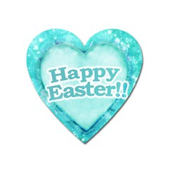 Happy Easter Theme Graphic Heart Magnet by dflcprints