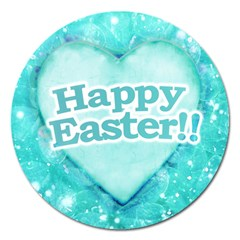 Happy Easter Theme Graphic Magnet 5  (round) by dflcprints
