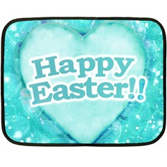 Happy Easter Theme Graphic Double Sided Fleece Blanket (mini)  by dflcprints