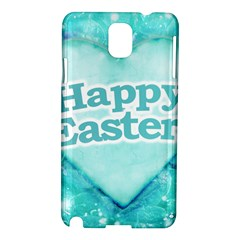 Happy Easter Theme Graphic Samsung Galaxy Note 3 N9005 Hardshell Case by dflcprints