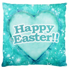 Happy Easter Theme Graphic Standard Flano Cushion Case (two Sides) by dflcprints