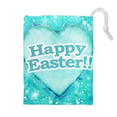 Happy Easter Theme Graphic Drawstring Pouches (extra Large) by dflcprints
