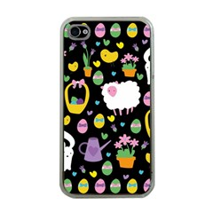 Cute Easter Pattern Apple Iphone 4 Case (clear) by Valentinaart