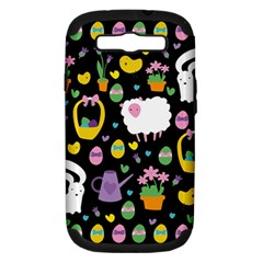 Cute Easter Pattern Samsung Galaxy S Iii Hardshell Case (pc+silicone) by Valentinaart