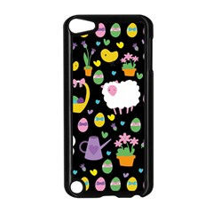 Cute Easter Pattern Apple Ipod Touch 5 Case (black) by Valentinaart
