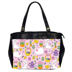 Cute Easter Pattern Office Handbags (2 Sides)  by Valentinaart