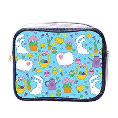 Cute Easter Pattern Mini Toiletries Bags by Valentinaart