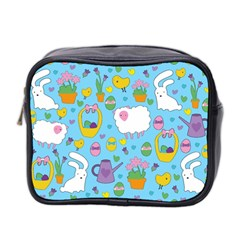 Cute Easter Pattern Mini Toiletries Bag 2 Side by Valentinaart