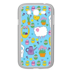 Cute Easter Pattern Samsung Galaxy Grand Duos I9082 Case (white) by Valentinaart