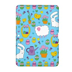 Cute Easter Pattern Samsung Galaxy Tab 2 (10 1 ) P5100 Hardshell Case  by Valentinaart