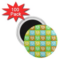 Colorful Happy Easter Theme Pattern 1 75  Magnets (100 Pack)  by dflcprints